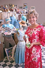Kit Rodenbough in the Design Archives store. Image copyright of the Triad Business Journal