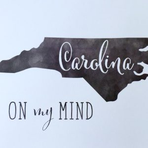 Carolina on my mind print