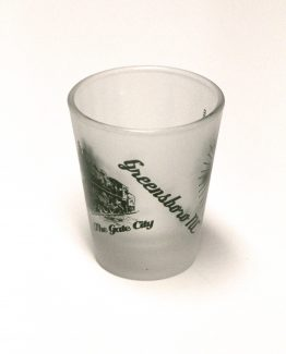 Gate City, Greensboro North Carolina Shot Glass