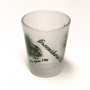Gate City, Greensboro North Carolina Shot Glass