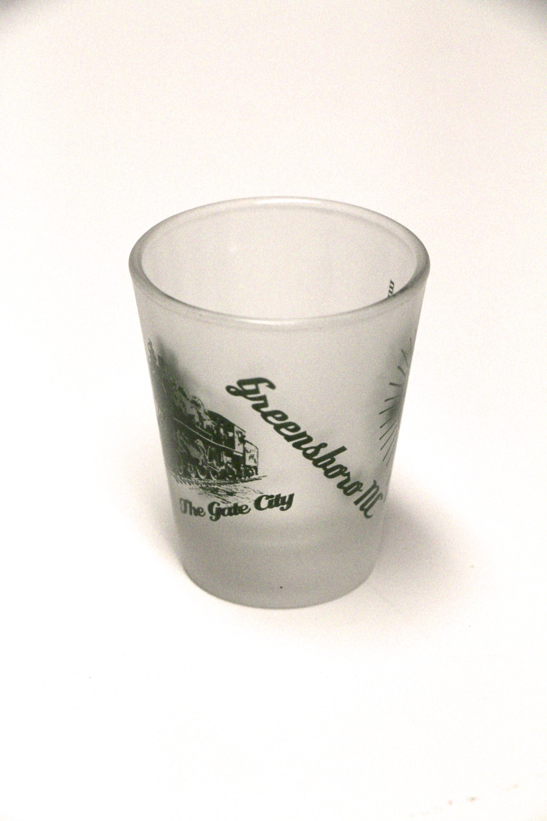 Gate City Greensboro North Carolina Shot Glass Design