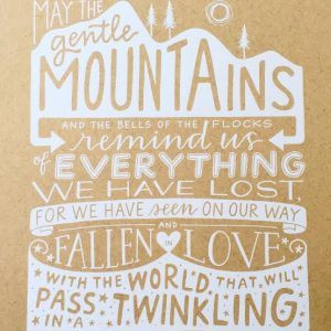 Gentle Mountains Print