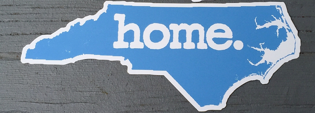 North Carolina Home Sticker Blue Design