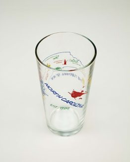 North Carolina Souvenir Tumbler Glass