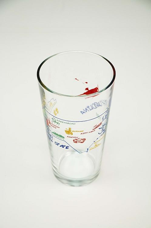 North Carolina Souvenir Tumbler Glass Design Archives