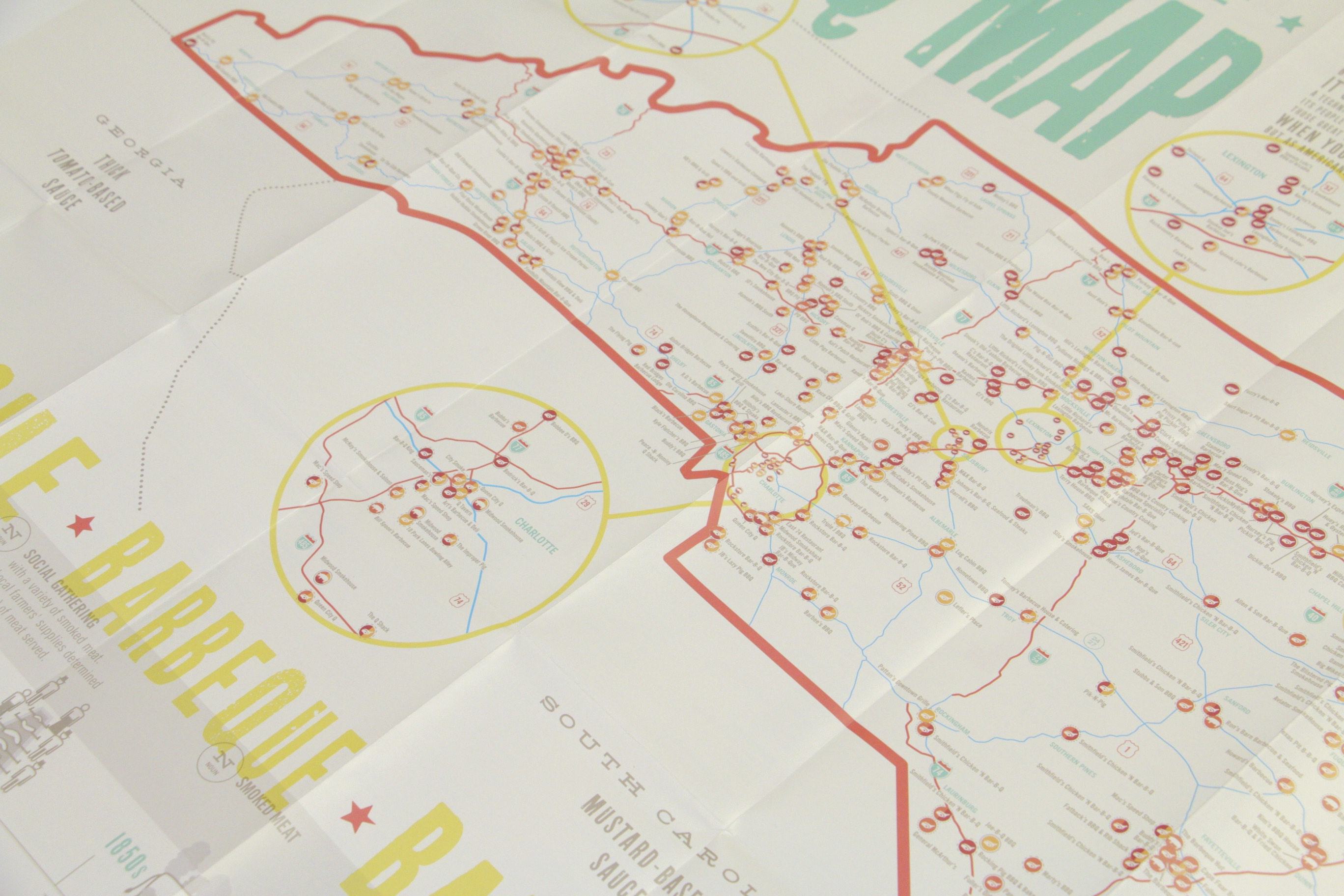The Great Nc Bbq Map Inside Design Archives Emporium