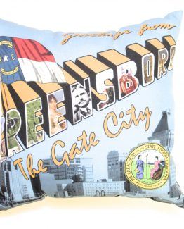 Greetings from Greensboro, North Carolina Pillow