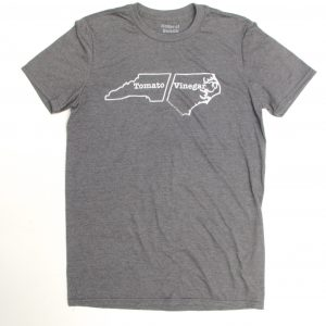North Carolina BBQ tee shirt - grey heather