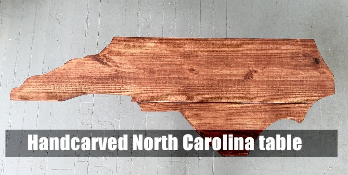 Handcarved North Carolina table