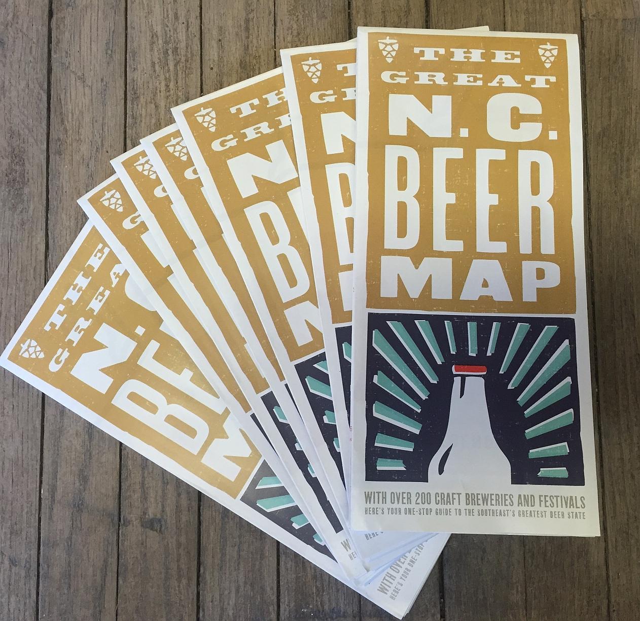 The Great NC Beer Map - Design Archivesu2122 Emporium: Greensboro and Winston-Salem