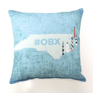 North Carolina Outerbanks OBX Lighthouses Commemorative Pillow