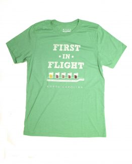 First In Flight NC tee - green