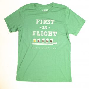 First in Flight North Carolina Beer Flight T Shirt - green