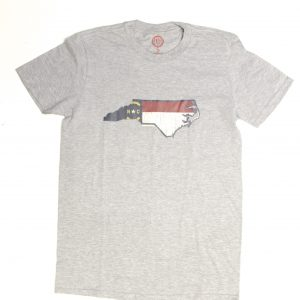 North Carolina State Flag Tee Shirt - grey