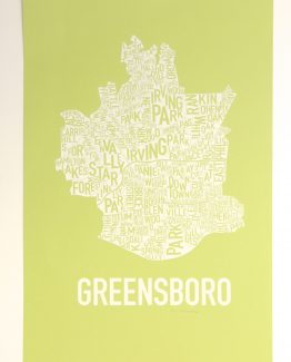 Greensboro Fine Art Map Neighborhoods