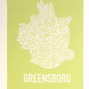 Greensboro Fine Art Map Neighborhoods