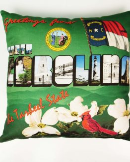 Greetings from North Carolina Pillow_