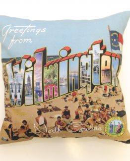 Greetings from Wilmington, North Carolina Pillow
