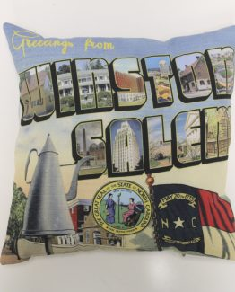 Greetings from Winston Salem, North Carolina Pillow