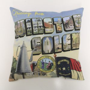 Greetings from Winston Salem, North Carolina Pillow