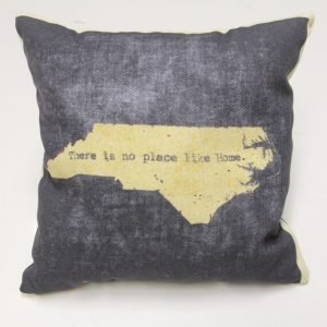 No Place Like Home North Carolina Pillow - black
