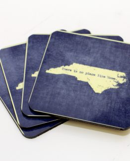 No Place Like Home North Carolina coasters - indigo