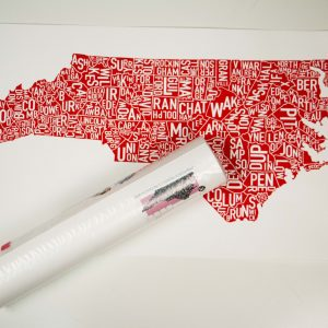 North Carolina Counties Art for your walls