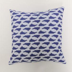 North Carolina State Blues Pillow