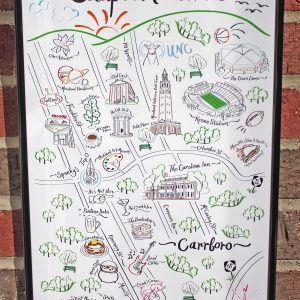 Chapel Hill Map Art