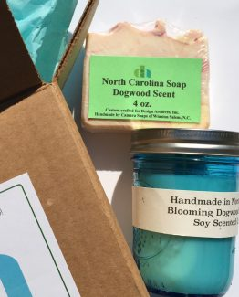 North Carolina Soap and Candle Gift Sets - Dogwood